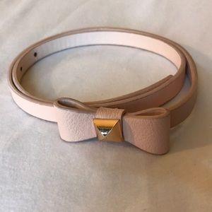 Forever21 pink skinny bow belt